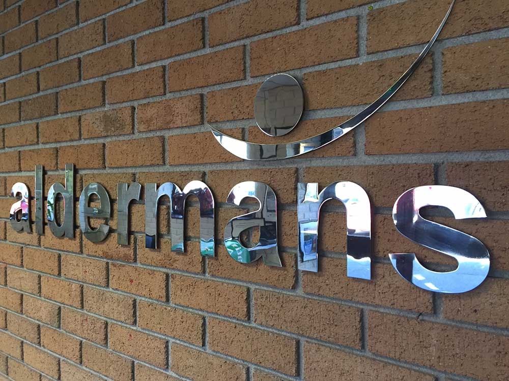 aldermans letters metal signage
